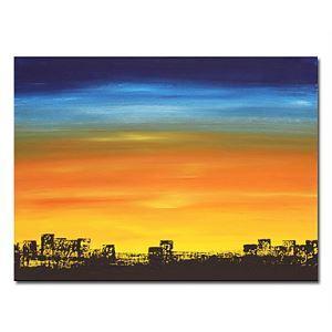 油絵画 手描き風景画 フレームなし