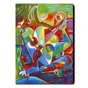 油絵画 手描き抽象画 1211-AB0264