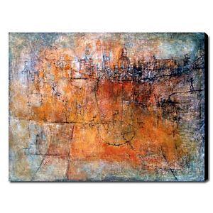 油絵画 手描き抽象画 1211-AB0270
