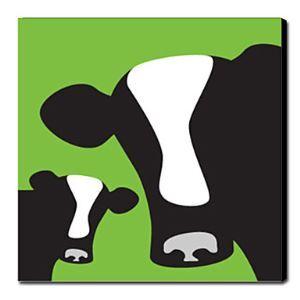 油絵画 手描き動物画 牛 フレームなし 1211-AN0020