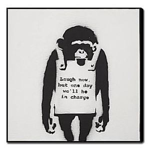 油絵画 手描き動物画 猿 1211-AN0029