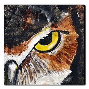 油絵画 手描き動物画 ファン・ゴッホの手描き「フクロウ」画1211-AN0028