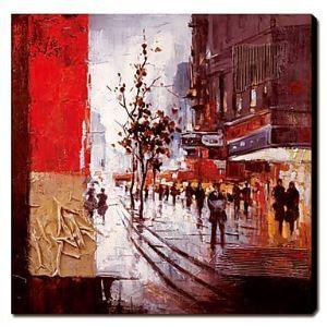 油絵画 手描き都市・建築風景画 1211-LS0013