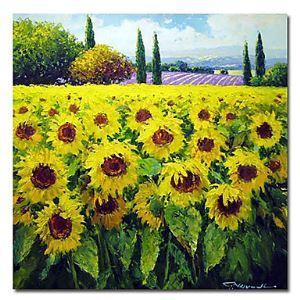 油絵画 手描き風景画 フレームなし 正方形