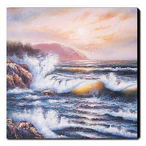 油絵画 手描き風景画 正方形