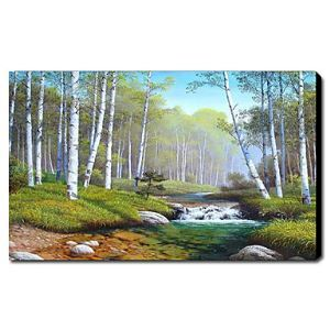 油絵画 手描き風景画 1211-LS0149