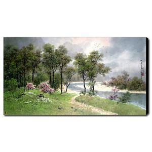 油絵画 手描き風景画 1211-LS0146