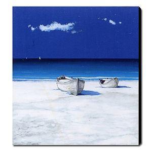 油絵画 手描き風景画 フレームなし シースケープ 1211-LS0198