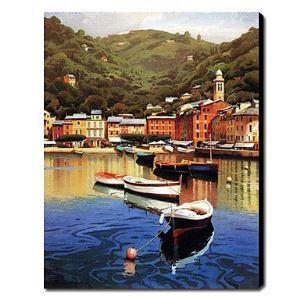 油絵画 手描き風景画 シースケープ 1211-LS0199