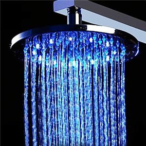 3色LEDヘッドシャワー シャワー水栓 温度センサー付 50cm