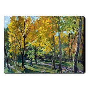 油絵画 手描き風景画 木 1211-LS0162