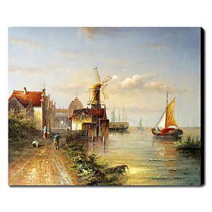 油絵画 手描き風景画 ヴェネツィア 1211-LS0169