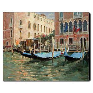 油絵画 手描き風景画 ヴェネツィア 1211-LS0192