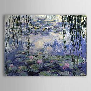 油絵画 クロード·モネの手描き睡蓮