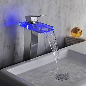 3色LEDバス・洗面蛇口 温度センサー付(高さ)
