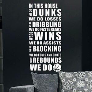 ウォールステッカー 転写式ステッカー PVCシール 壁紙シート 剥がせる バスケットボール
