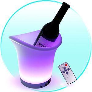 LEDテーブルランプ テーブル照明 テーブルライト スタンド リモコン付き 氷バケット形状 1.8W