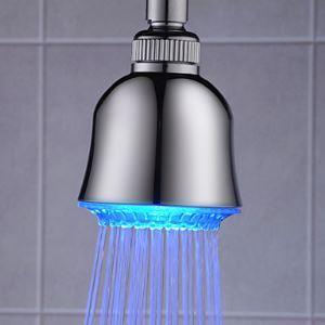 3色LEDヘッドシャワー シャワー水栓 温度センサー付 7.6cm