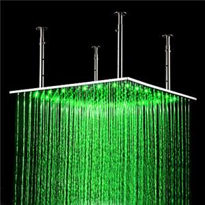 3色LEDヘッドシャワー シャワー水栓 温度センサー付 60cm