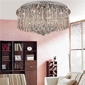 シーリングライト 照明器具 天井照明 リビング用 寝室用 クリスタル付 オシャレ 12灯