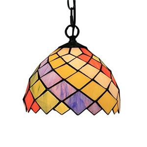 ティファニーライト ペンダントライト ステンドグラス照明器具 ダイヤモンド 1灯