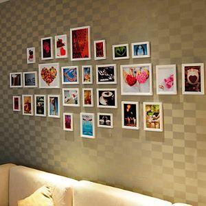 壁掛けフォトフレーム 写真用額縁 フォトデコレーション PM-28A 28個セット 複数枚