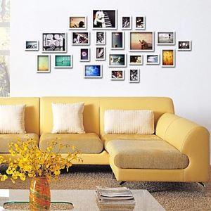 壁掛けフォトフレーム 写真用額縁 フォトデコレーション FZ-023-2 23個セット 複数枚