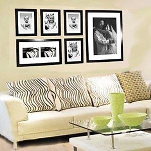 壁掛けフォトフレーム 写真用額縁 フォトデコレーション FZ-06 6個セット 複数枚