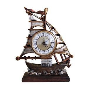 置き時計 卓上時計 レトロ 船型 創意
