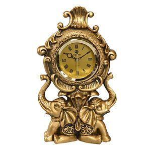 レトロな置き時計 象の造形
