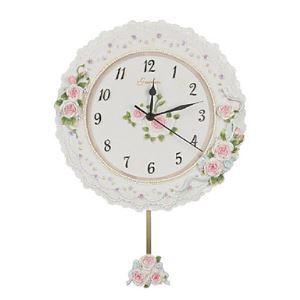 壁掛け時計 薔薇 ポリレジン