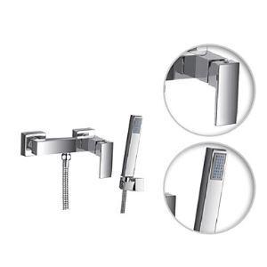 シャワー水栓 バス蛇口 ハンドシャワー 水栓金具 混合水栓 風呂用 クロム