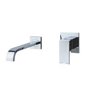 壁付水栓 バス蛇口 洗面水栓 冷熱混合栓 水道蛇口 クロム