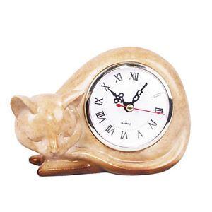 置き時計 眠っている猫 ポリレジン