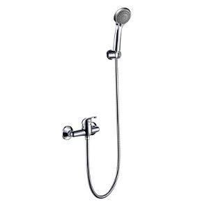 シャワー水栓 バス蛇口 ハンドシャワー 混合水栓 蛇口付き 風呂用 クロム HT