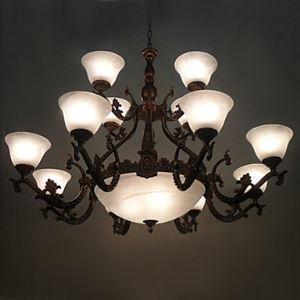 レトロなシャンデリア 照明器具 北欧 アンティーク 15灯