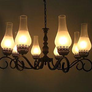 レトロなシャンデリア 照明器具 店舗照明 リビング照明 北欧風 アンティーク 8灯