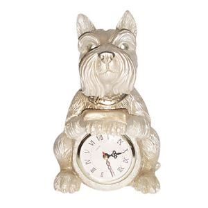 置き時計 犬の造形 ポリレジン