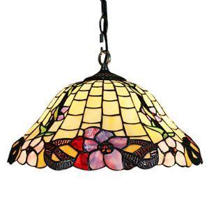 ステンドグラス照明 ティファニーライト 照明器具 ペンダントライト 2灯 D40cm