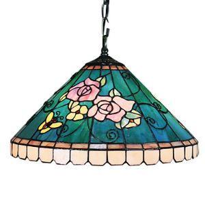 ティファニーライト ステンドグラス照明器具 ペンダントライト ローズ柄 2灯