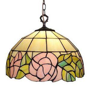 ティファニーライト ペンダントライト ステンドグラスランプ 照明器具 欧米風 バラ 1灯