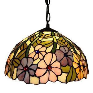ティファニーライト ペンダントライト ステンドグラス照明 玄関照明 1灯 D30cm