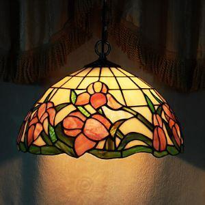 ペンダントライト ステンドグラスランプ ティファニーライト 照明器具 ダイニング照明 1灯 D30cm