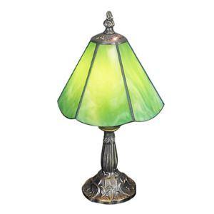 テーブルランプ ティファニーライト ステンドグラスランプ 卓上照明 緑色 1灯 D15cm
