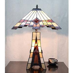 テーブルランプ ティファニーライト ステンドグラスランプ 卓上照明 3灯 D40cm