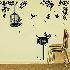ウォールステッカー 転写式ステッカー PVCシール 壁紙シート 剥がせる ツリー&鳥