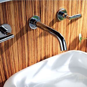 壁付水栓 洗面蛇口 バス蛇口 2ハンドル混合栓