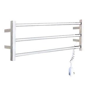 壁掛けタオルウォーマー 室内ヒーター タオルハンガー+簡易乾燥 ステンレス鋼 30W