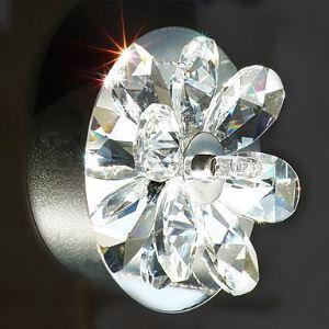 壁掛けライト ウォールランプ クリスタル照明 照明器具 ブラケット 花型 2灯