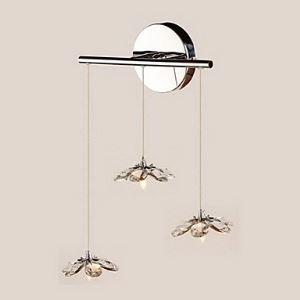 壁掛けライト ウォールランプ 玄関照明 クリスタル 花型 オシャレ 3灯